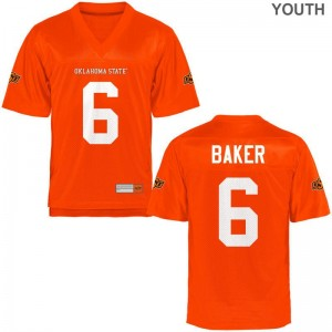 Oklahoma State Cowboys Youth Game Adrian Baker Jersey - Orange