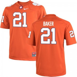 Adrian Baker Clemson University Jersey Youth Limited Orange Stitched