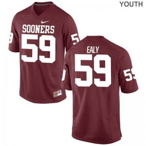 For Kids Adrian Ealy Jerseys Sooners Game - Crimson