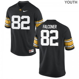 Youth(Kids) Game Hawkeyes Jerseys Adrian Falconer - Black