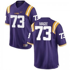 Adrian Magee Louisiana State Tigers Jersey Game Mens Purple