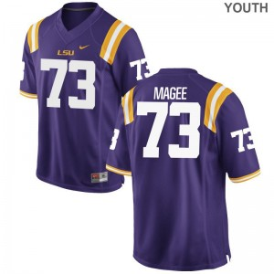 Louisiana State Tigers Adrian Magee Jersey Game Youth(Kids) Purple