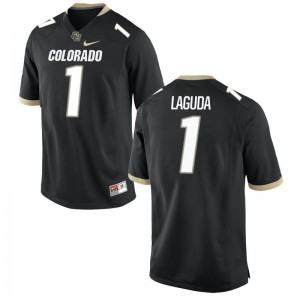 Afolabi Laguda UC Colorado For Men Jersey Black Game Jersey