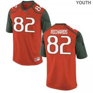 Miami Hurricanes Limited Youth Orange Ahmmon Richards Jerseys