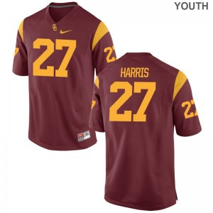 White Ajene Harris Jerseys Trojans Youth(Kids) Limited