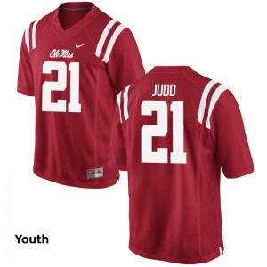 Akeem Judd Jersey Kids University of Mississippi Game - Red