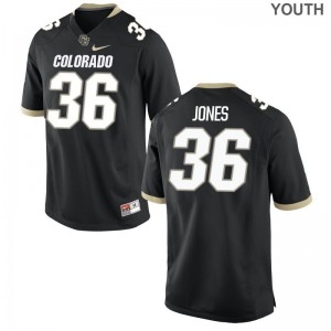 Limited Colorado Buffaloes Akil Jones Kids Jersey - Black