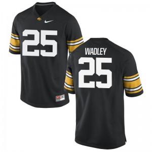 Iowa Akrum Wadley Jerseys For Men Limited Jerseys - Black
