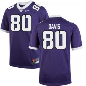 Limited Mens TCU Horned Frogs Jerseys Al'Dontre Davis - Purple