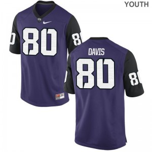 Texas Christian University Al'Dontre Davis Kids Game Purple Black Official Jersey