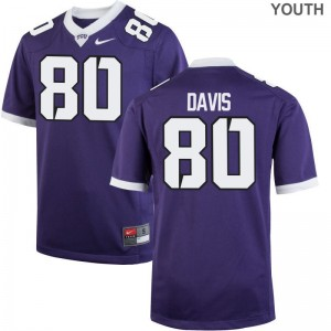 Game Texas Christian University Al'Dontre Davis For Kids Purple Jersey