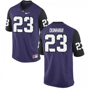 For Men Alec Dunham Jersey Stitched Purple Black Game TCU Horned Frogs Jersey