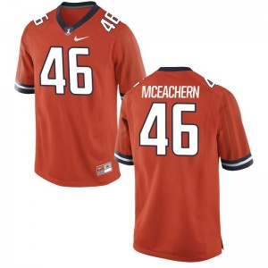 University of Illinois Alec McEachern Jerseys Limited Orange Mens