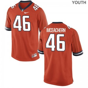 Orange Alec McEachern Jerseys Illinois Youth(Kids) Game