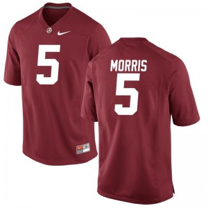 Men Alec Morris Jerseys Alabama Crimson Tide Game - Red