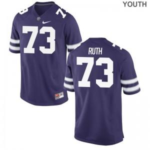 Kids Game High School KSU Jerseys Alec Ruth Purple Jerseys