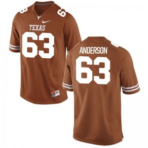 Men Alex Anderson Jersey University of Texas Game Orange