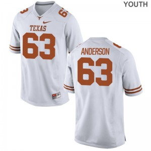 Alex Anderson Youth Longhorns Jerseys White Game Jerseys