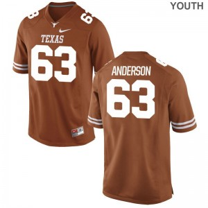 Youth Alex Anderson Jerseys Longhorns Orange Limited
