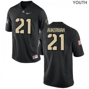 Alex Aukerman United States Military Academy Jerseys Game For Kids Black