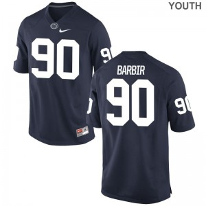 Nittany Lions Alex Barbir Jerseys Navy Game Youth