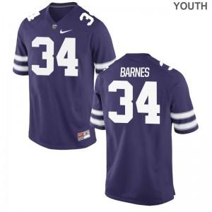 Game Youth Kansas State University Jersey Alex Barnes - Purple