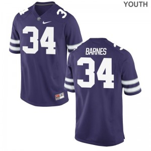 KSU Purple Limited Youth(Kids) Alex Barnes Jerseys
