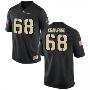 Alex Crawford For Men Jersey Black United States Military Academy Game