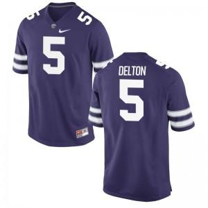 Alex Delton Kansas State Jerseys Purple For Men Game