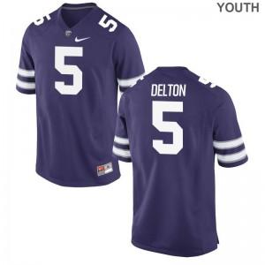 K-State Alex Delton Jerseys For Kids Game - Purple
