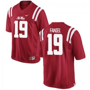 Game Alex Faniel Jerseys For Men Ole Miss Rebels - Red