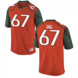 Alex Gall University of Miami Jerseys For Men Limited Orange