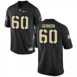 Army Black Knights Alex Herndon Game Men Jerseys - Black