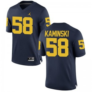 Michigan Wolverines Alex Kaminski Limited Mens NCAA Jerseys - Jordan Navy