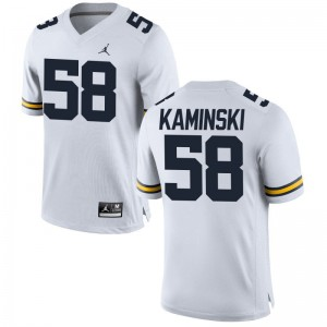 Wolverines Alex Kaminski Jerseys Jordan White For Men Limited