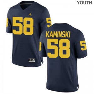 For Kids Game Michigan Wolverines Jerseys Alex Kaminski - Jordan Navy