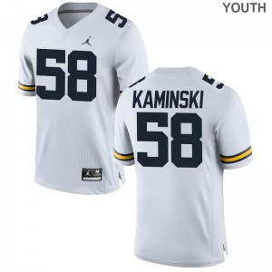Alex Kaminski Michigan Wolverines Jerseys Youth(Kids) Limited Jordan White