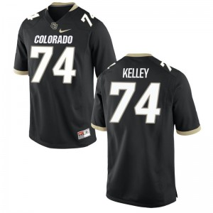 Alex Kelley University of Colorado Jerseys Game Black Mens