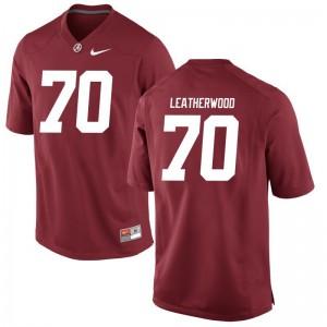 University of Alabama Red Game For Men Alex Leatherwood Jersey