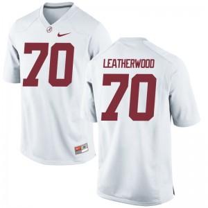University of Alabama Alex Leatherwood Jerseys Game White Mens