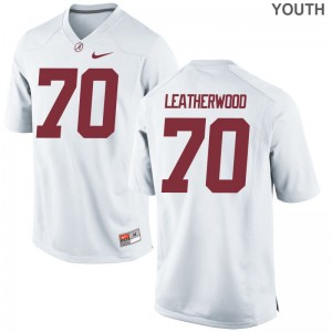 Alex Leatherwood Alabama Crimson Tide Jerseys Kids White Game