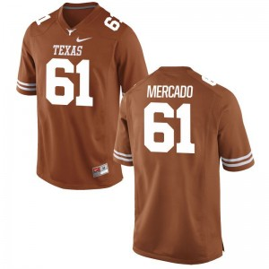 Alex Mercado Mens Longhorns Jerseys Orange Game Alumni Jerseys