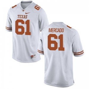 Texas Longhorns Alex Mercado Game Jersey White For Men