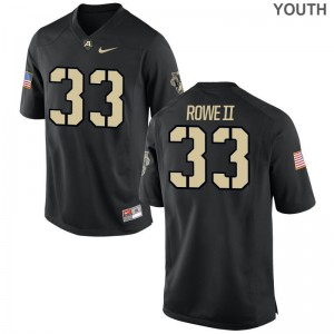 United States Military Academy Limited Youth(Kids) Black Alex Rowe II Jersey