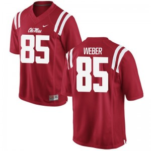 University of Mississippi Alex Weber Jersey Football For Men Game Red Jersey