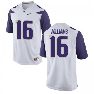 Amandre Williams Mens Jerseys University of Washington Game - White