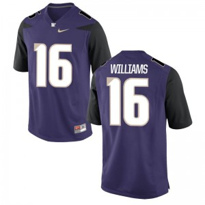 UW Huskies Amandre Williams Jersey For Men Limited - Purple