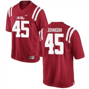 Amani Johnson Men Jerseys University of Mississippi Game - Red