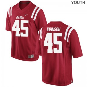 Amani Johnson For Kids Ole Miss Jersey Red Game Football Jersey