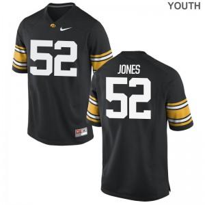 Hawkeyes Amani Jones Limited Youth(Kids) NCAA Jersey - Black